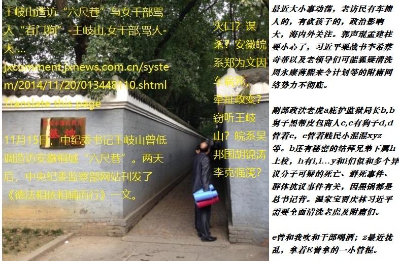 """20141121091728522王岐山造访""""六尺巷""""与女干部骂人""""看门狗""""6.jpg"""